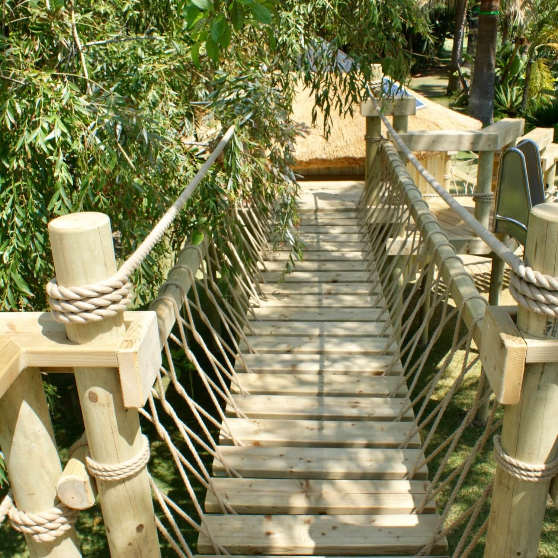 """""""...rope bridge between treehouse platforms"""""""
