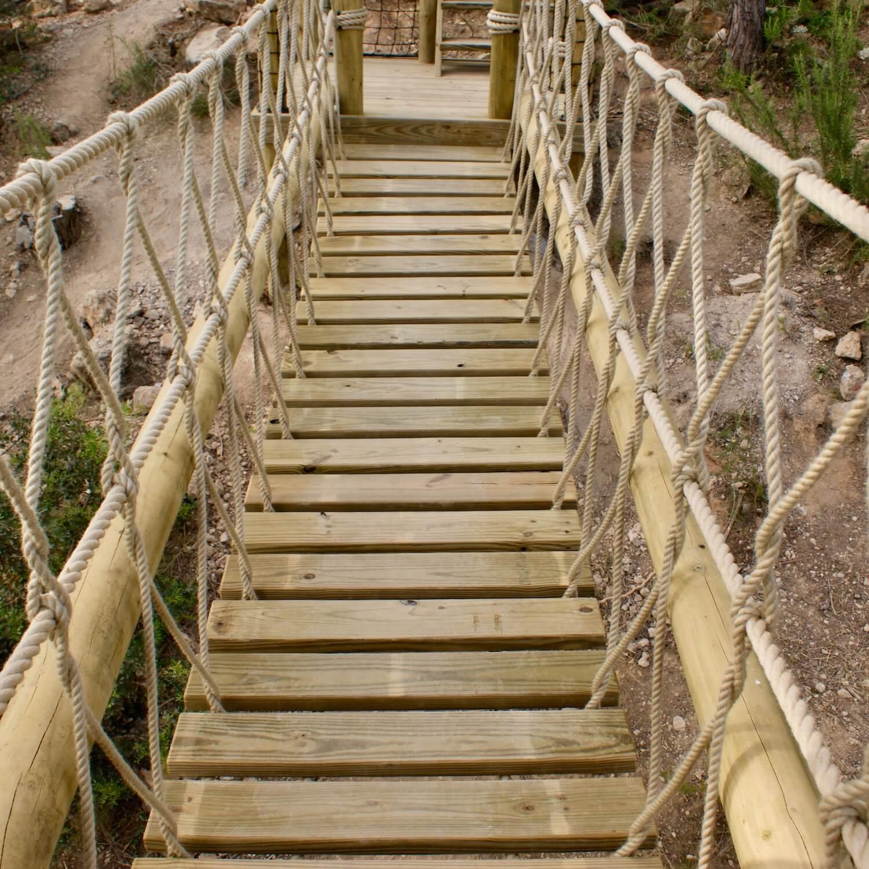 """...rope bridge deck board-walk"""