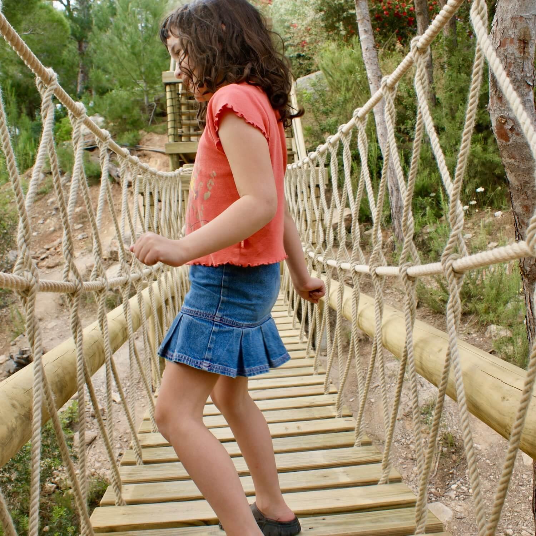 """""""...girl loves her rope bridge"""""""
