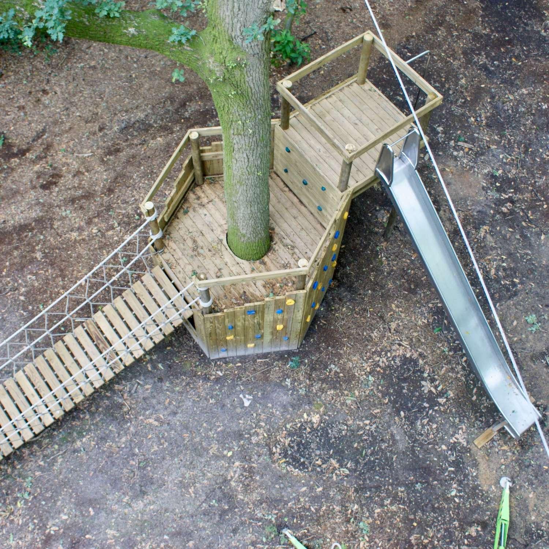 """...woodland rope bridge plus play platform"""