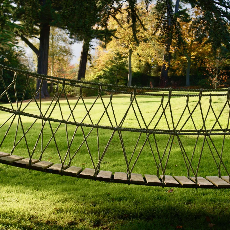 """""""...garden rope bridge entrance for treehouse"""""""
