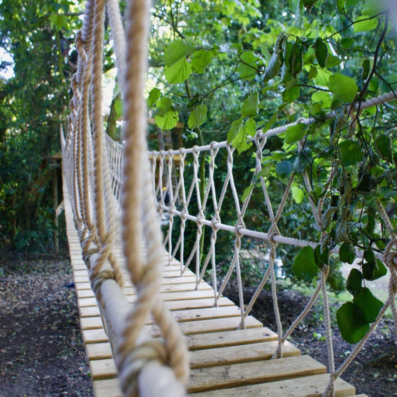 """...rope bridge through the trees"""