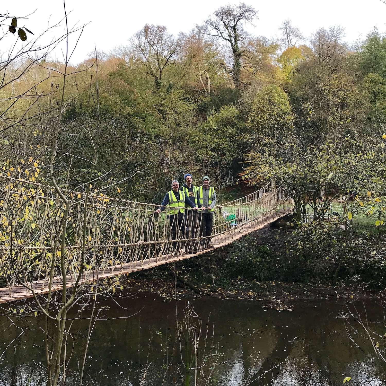"""...rope bridge for National Trust"""