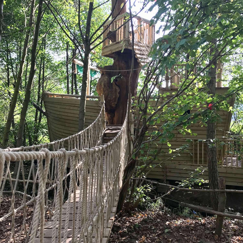 """""""...rope bridge leading to adventure play"""""""