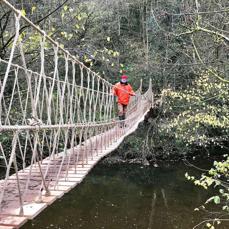 """""""...National Trust rope bridge"""""""