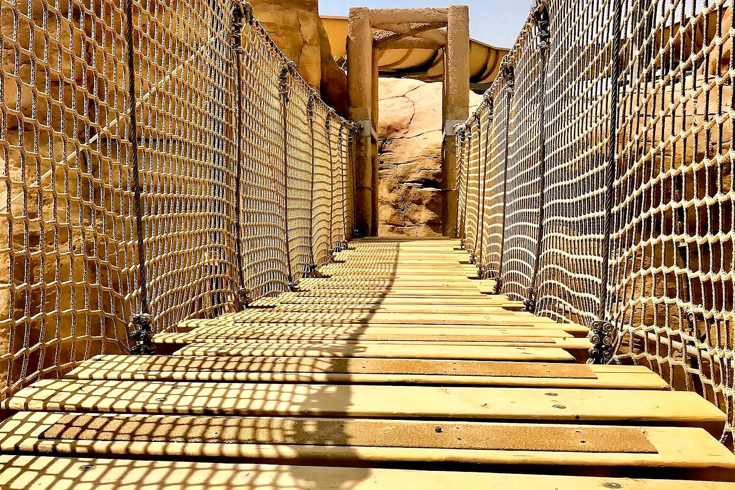 Rope Bridges for Adventure Parks…including for the Middle East's largest in Qatar where we created this Tibetan Rope Bridge plus five others.  Read about this project in the press >