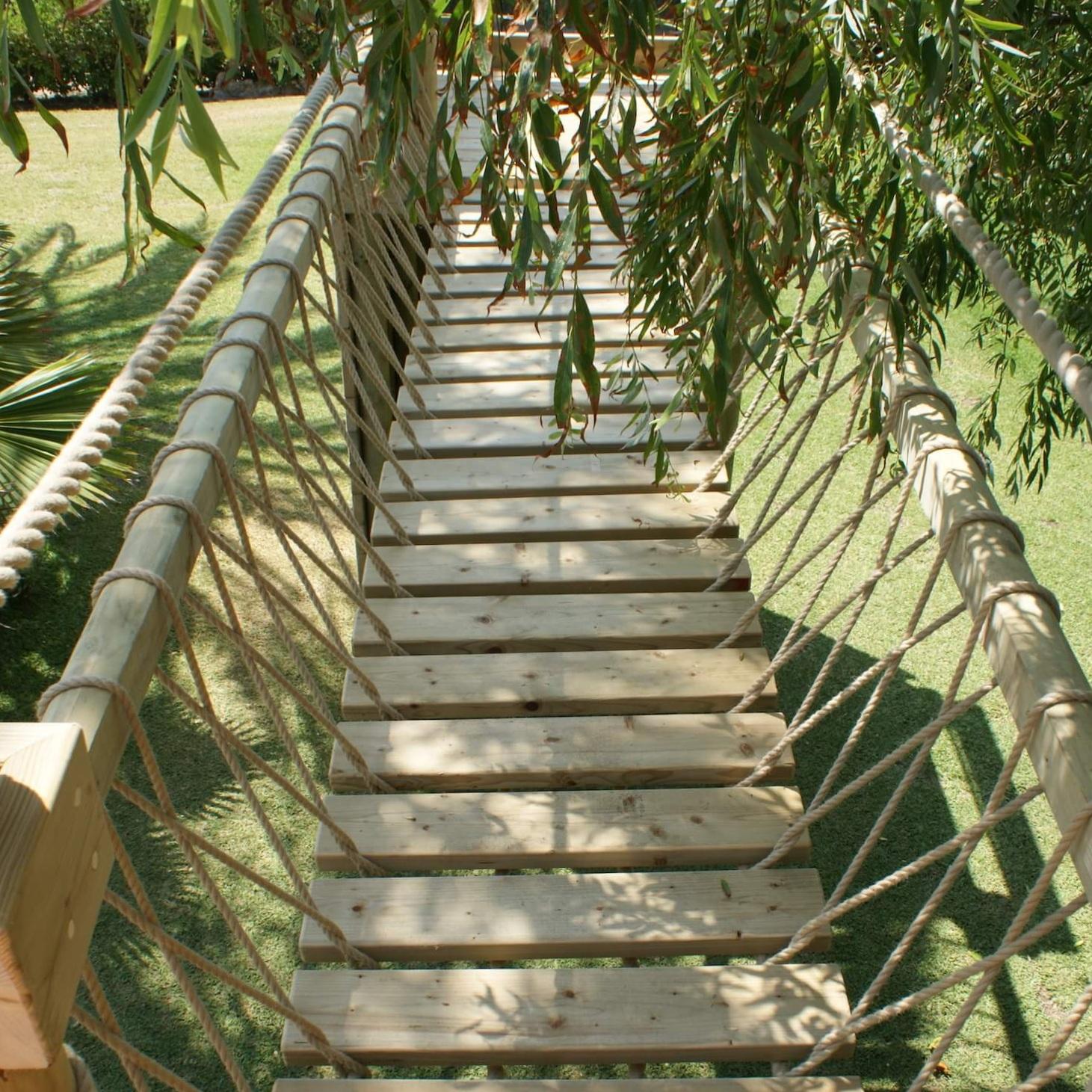 """...platform to deck rope bridge"""