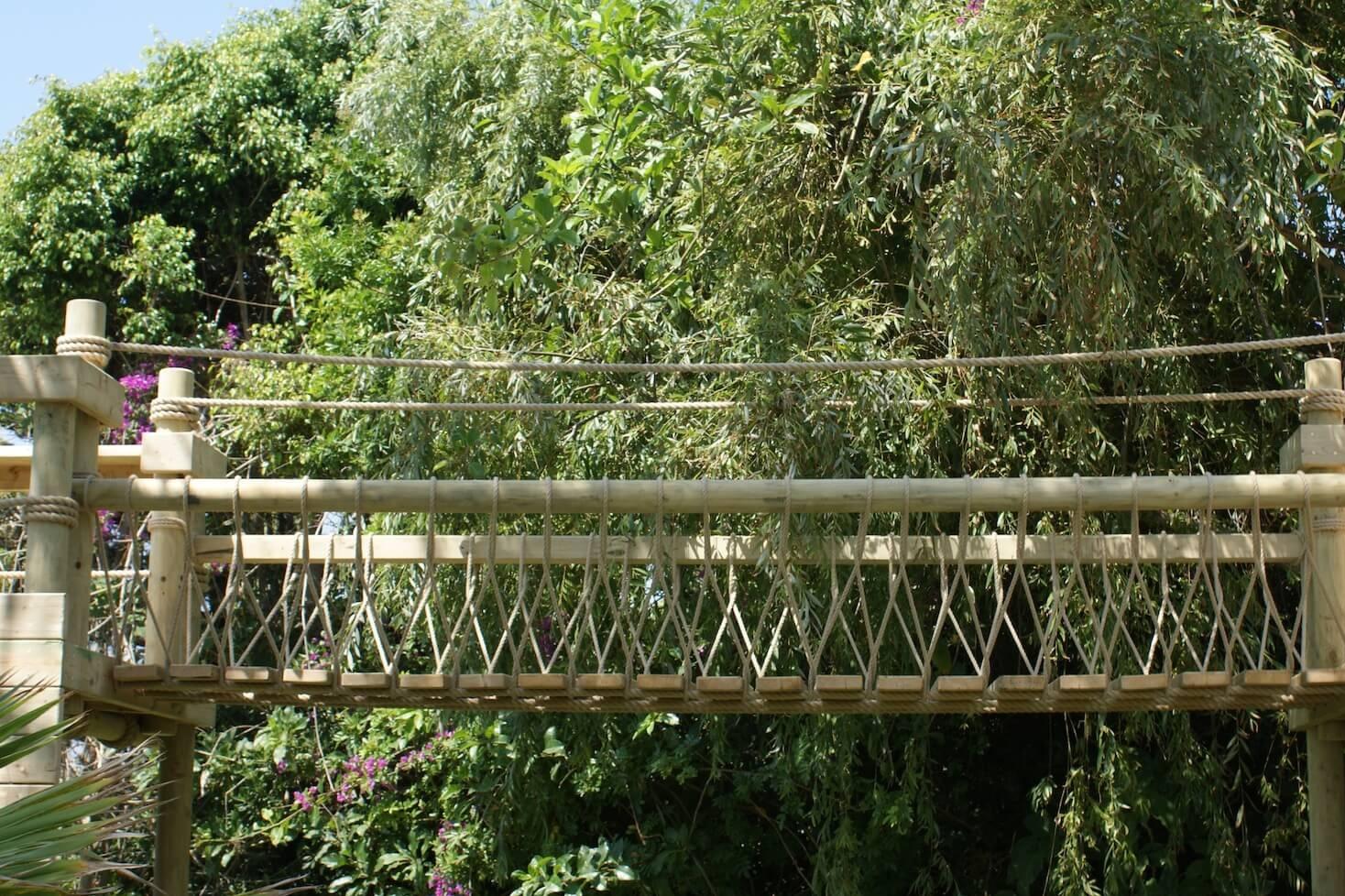 """...rope bridge in Marbella"""