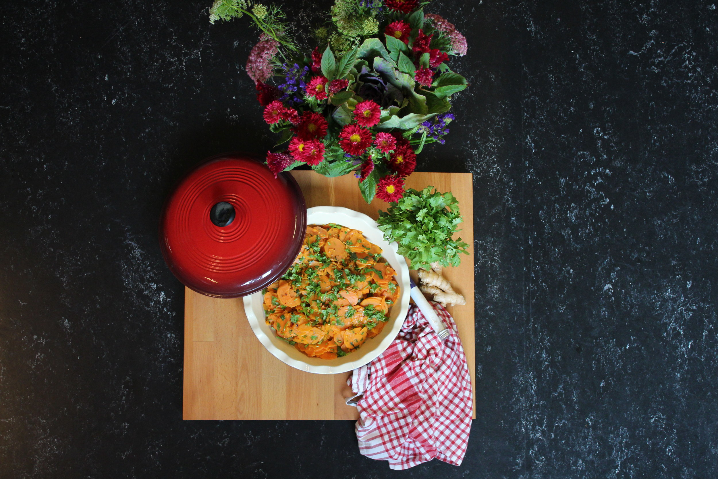 Ginger and Coriander Sweet Potatoes