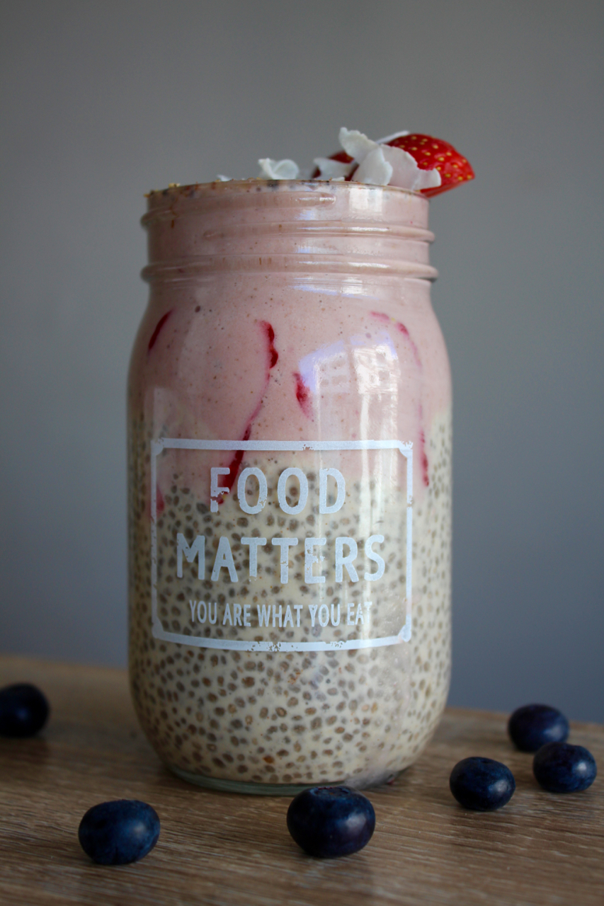 Vegan Protein Berry Chia Pudding