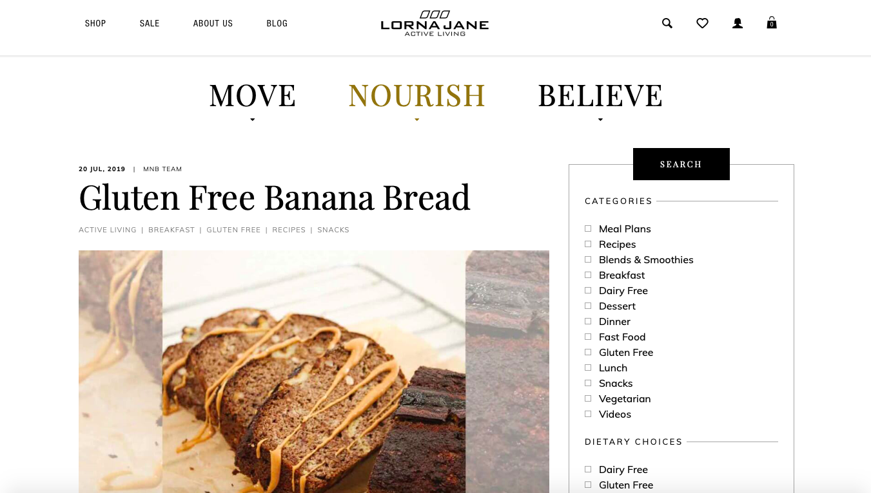 Gluten-Free Banana Bread Recipe | Lorna Jane