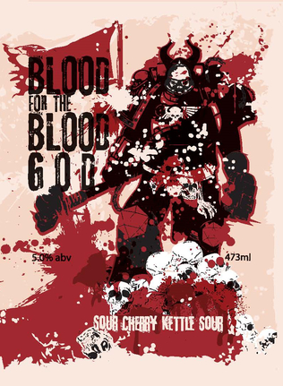 Blood for the Blood God - Sour Cherry Kettle Sour, 5.0% abv