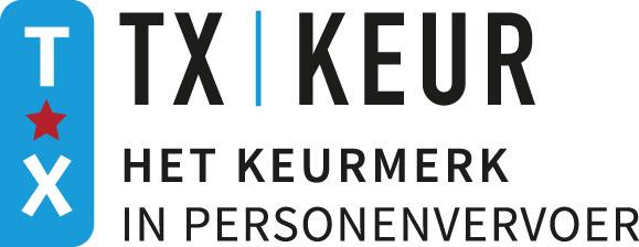TX-Keurmerk - Sinds juli 2019 is iZoof Electric Taxi gecertificeerd met het TX-Keurmerk. Het officiële landelijke kwaliteitskeurmerk voor taxivervoer. Dit garandeert betrouwbaarheid, veiligheid, kwaliteit en klantgerichtheid. Lees meer over het TX Keurmerk.