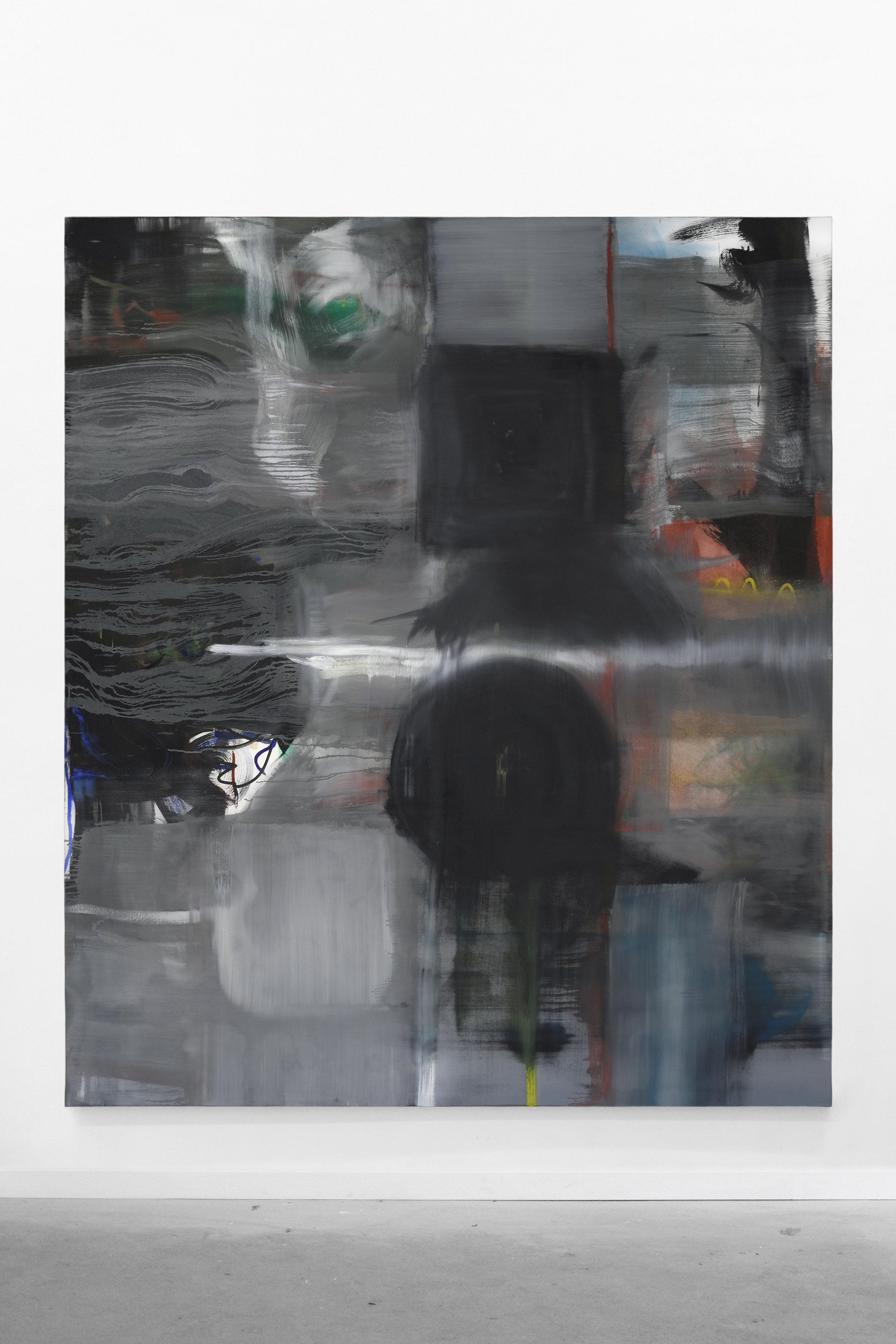 S. Derviz, Untitled, oil on canvas, 220x190 cm, 2018