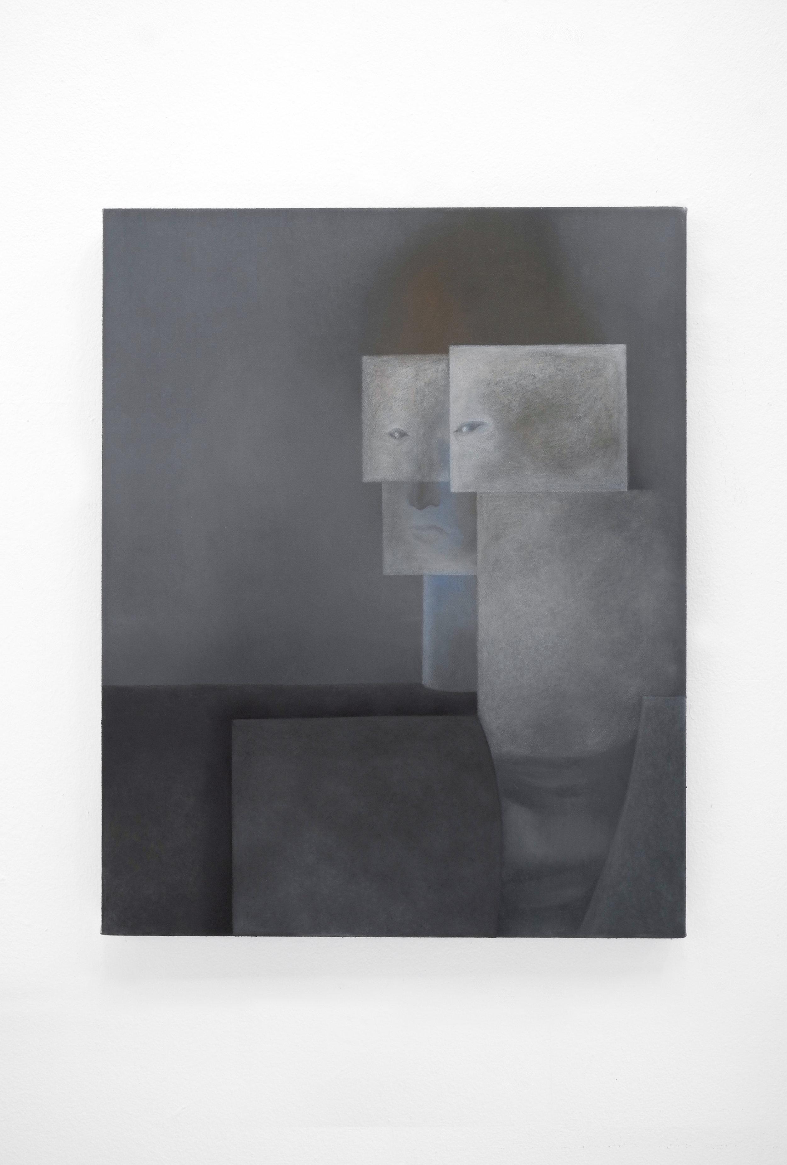 Sonya Derviz, 'Two jackets', oil on canvas, 50x40cm, 2018-19.jpg