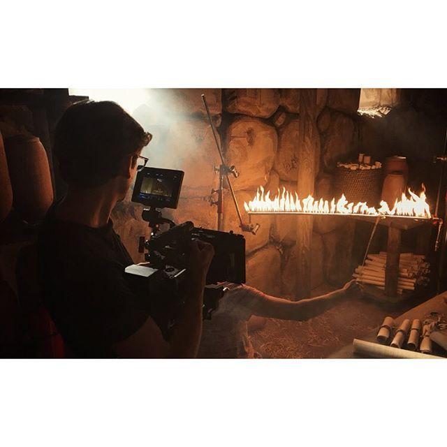 Fire inserts.  #whitestonestoryline #filmmaking #flamebar #cinematography #productiondesign