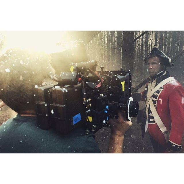 "Revolutionary War. In the ""snow."" #filmmaking #cinematography #artdepartment #productiondesign #whitestonestoryline"