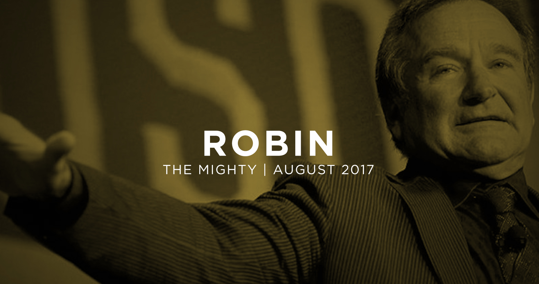 Reflection about depression after Robin Williams death. August 10, 2017