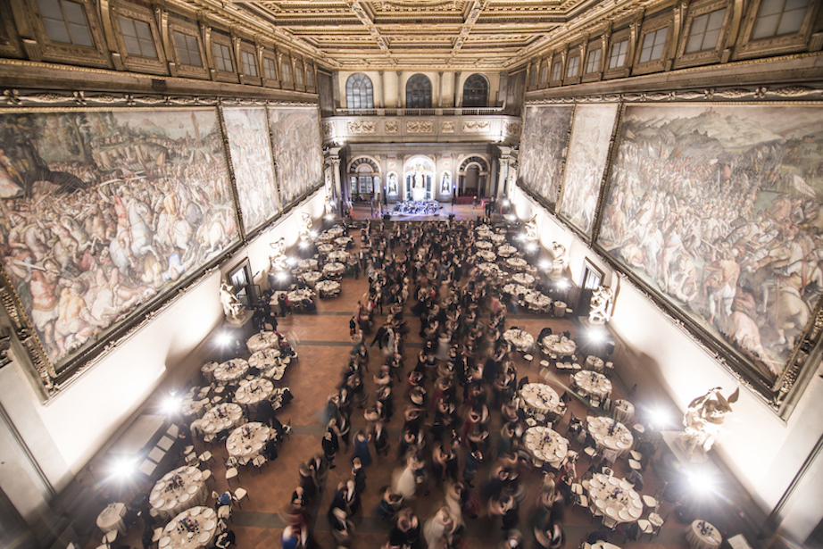 Reeling in the Palazzio Vecchio's Hall of the 500 - a historic first in 300 years