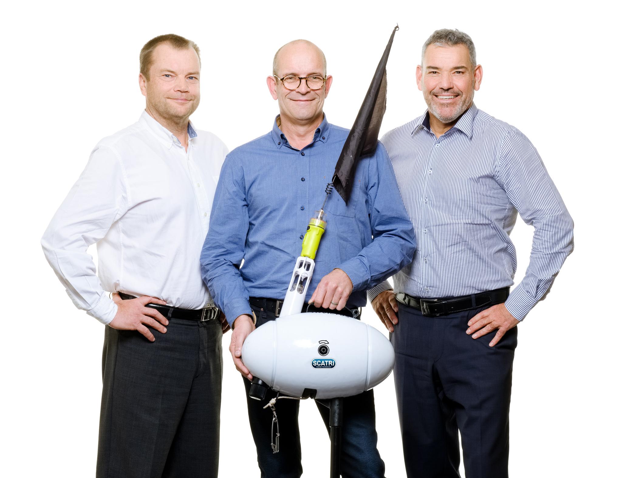 Jacques Folliet, Patrice Biousse, Patrick Chalançon, co-fondateurs de SCATRI