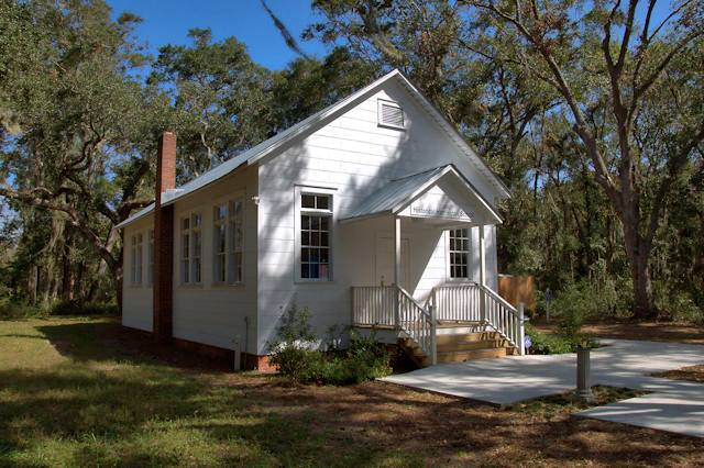 The Historic Harrington School - a 1920s era Gullah Geechee schoolhouse on St Simons Island