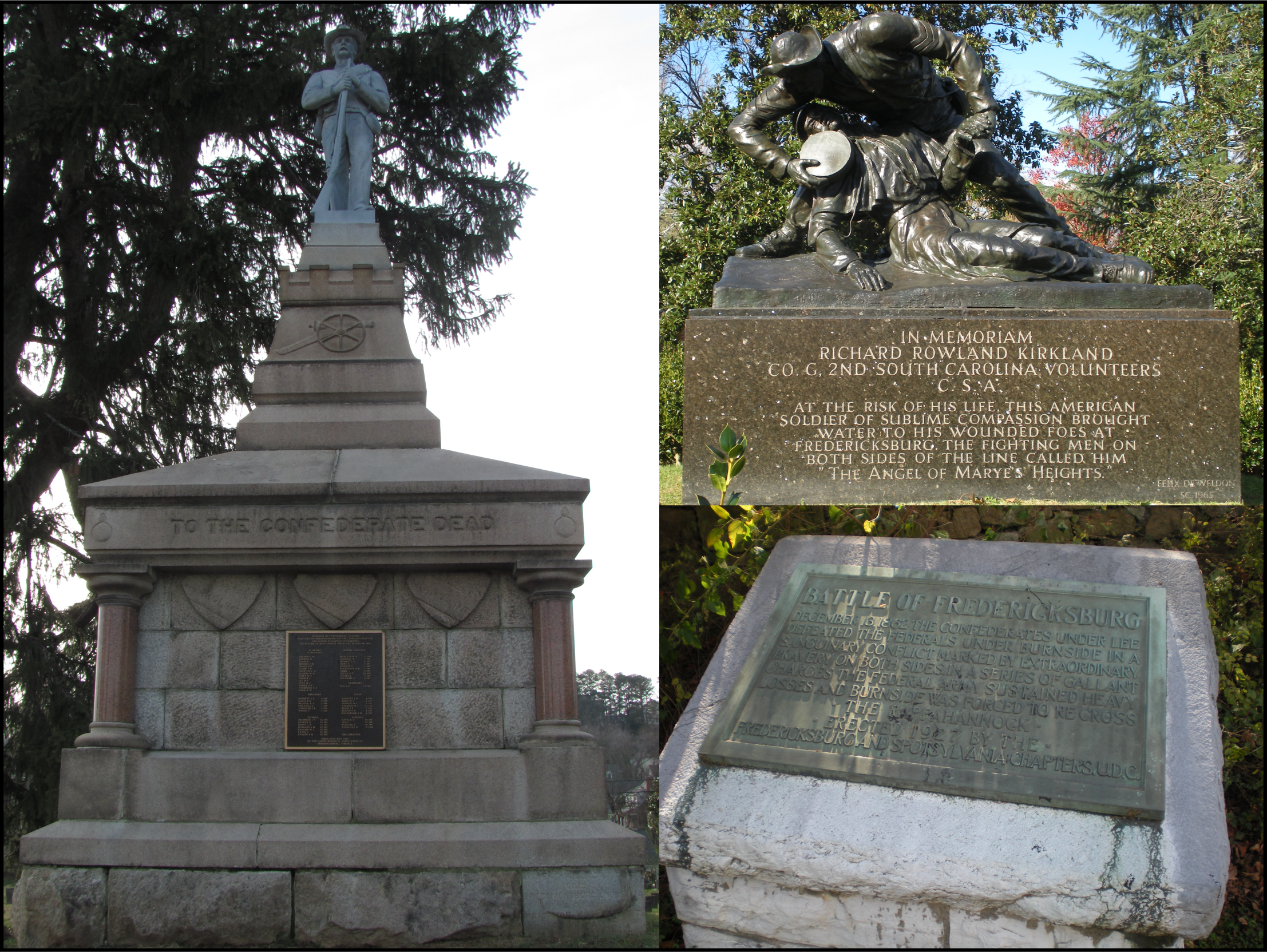 UDC and other Confederate Markers and Monuments. Photo by author.