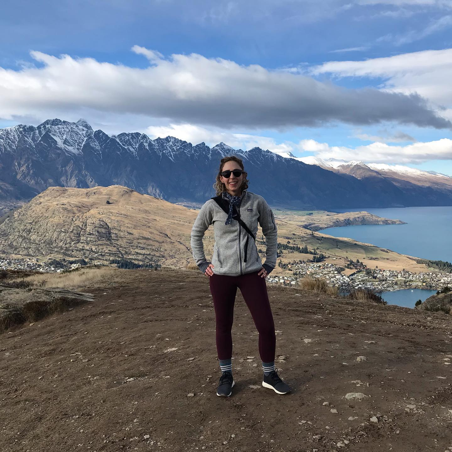 Queenstown Hill Summit Trek - note that my overcoat is off to truly show how bad-ass I am … yes I was freezing.