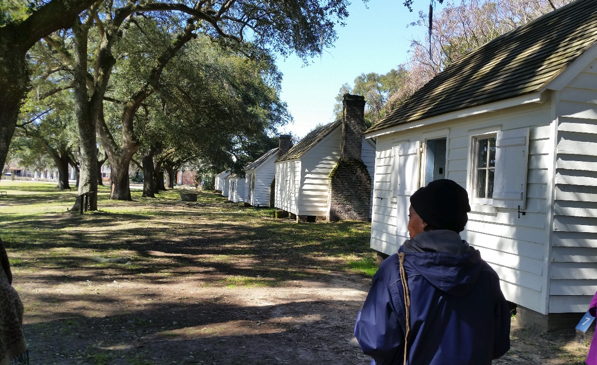 Personal photo from Dr. Derek Alderman on their enslaved cabin tour at McCleod Plantation in Charleston, South Carolina. This site has a rather progressive approach to their history of enslaved people.