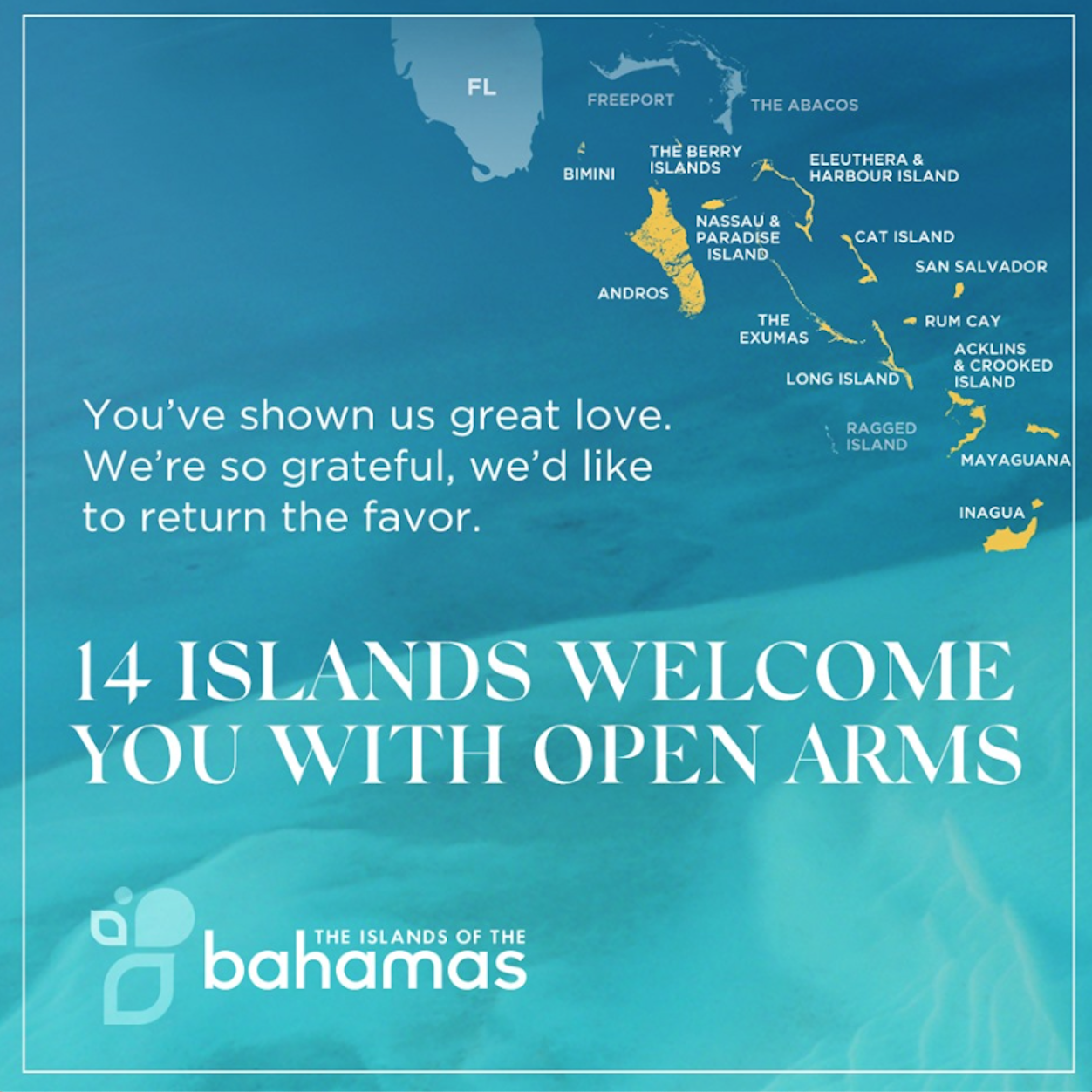 Source:  Bahamas Ministry of Tourism and Aviation . (2019). Islands Of The Bahamas Facebook Page.