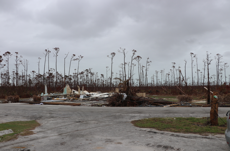 The remains of High Rock Health Center in East End Grand Bahama. (Personal photo - Dr. Alana Dillette)