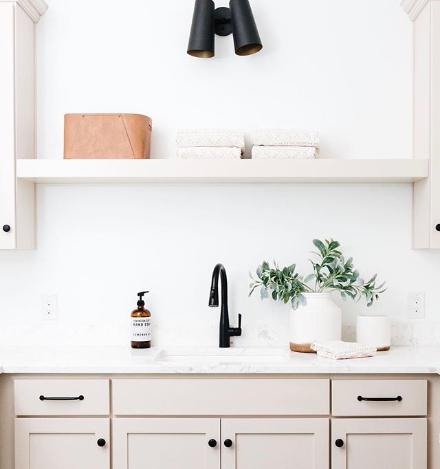 Pulling together inspo for a new project and trying to decide between light&airy or dark&moody... I love all the deep blues and greens right now, but there is just something about a bright laundry room that feels like a breath of fresh air!  Thoughts!? Staging: @lexigracedesign 📷 @rennaihoefer  Design/Build: Us @gatherprojects . . . #housetour #finditstyleit #homerenovation #modernhome #interior123 #whitedecor #Homedesign #Homedecor  #interiorlovers #howihaven #sodomino #dreambuildgather  #laundryroom #myonepiece  #deltafaucet