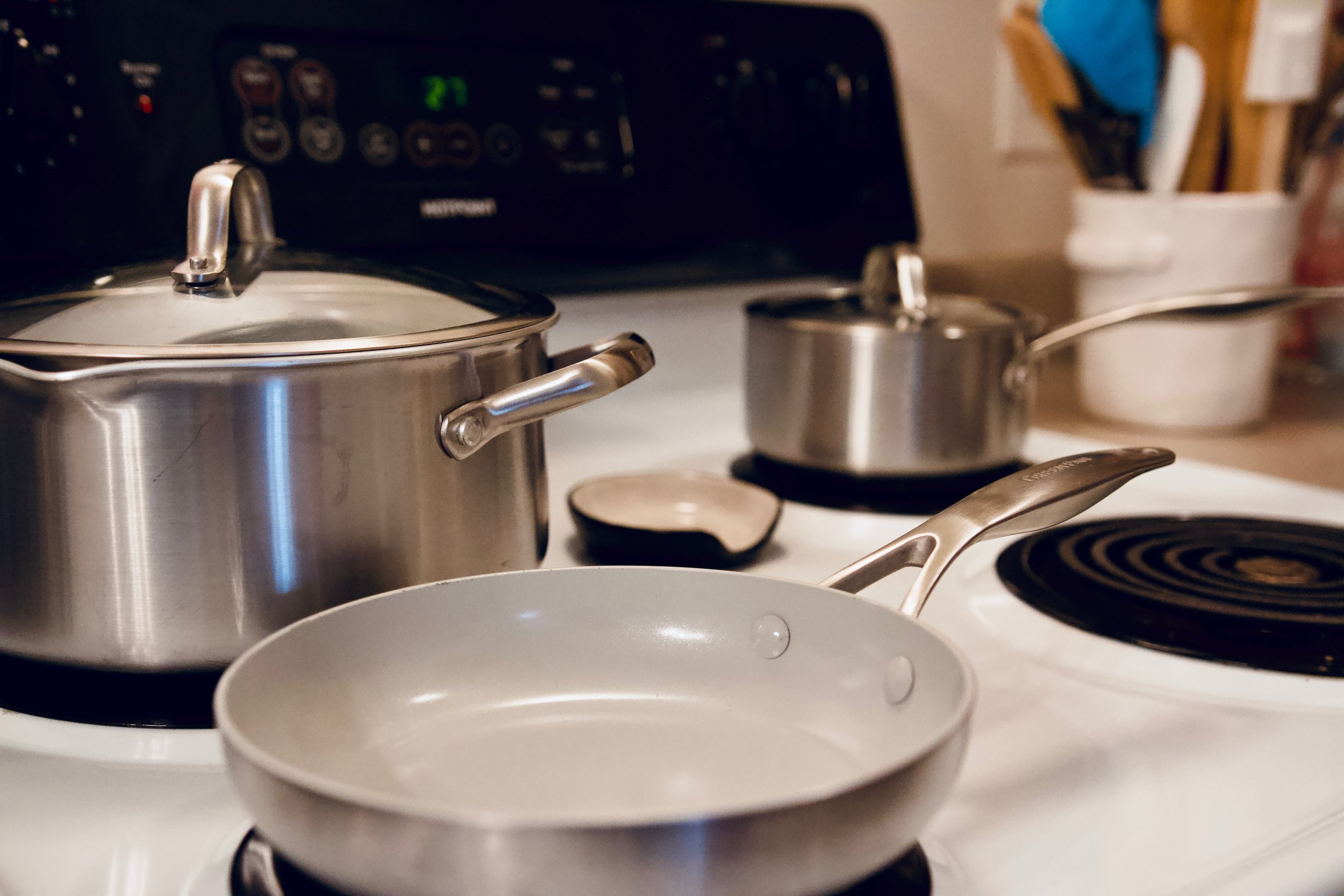 GreenPan ™ Venice Pro 10-Piece Cookware Set - These are the best pots and pans I have ever used. Nothing sticks to them which makes them so easy to clean.