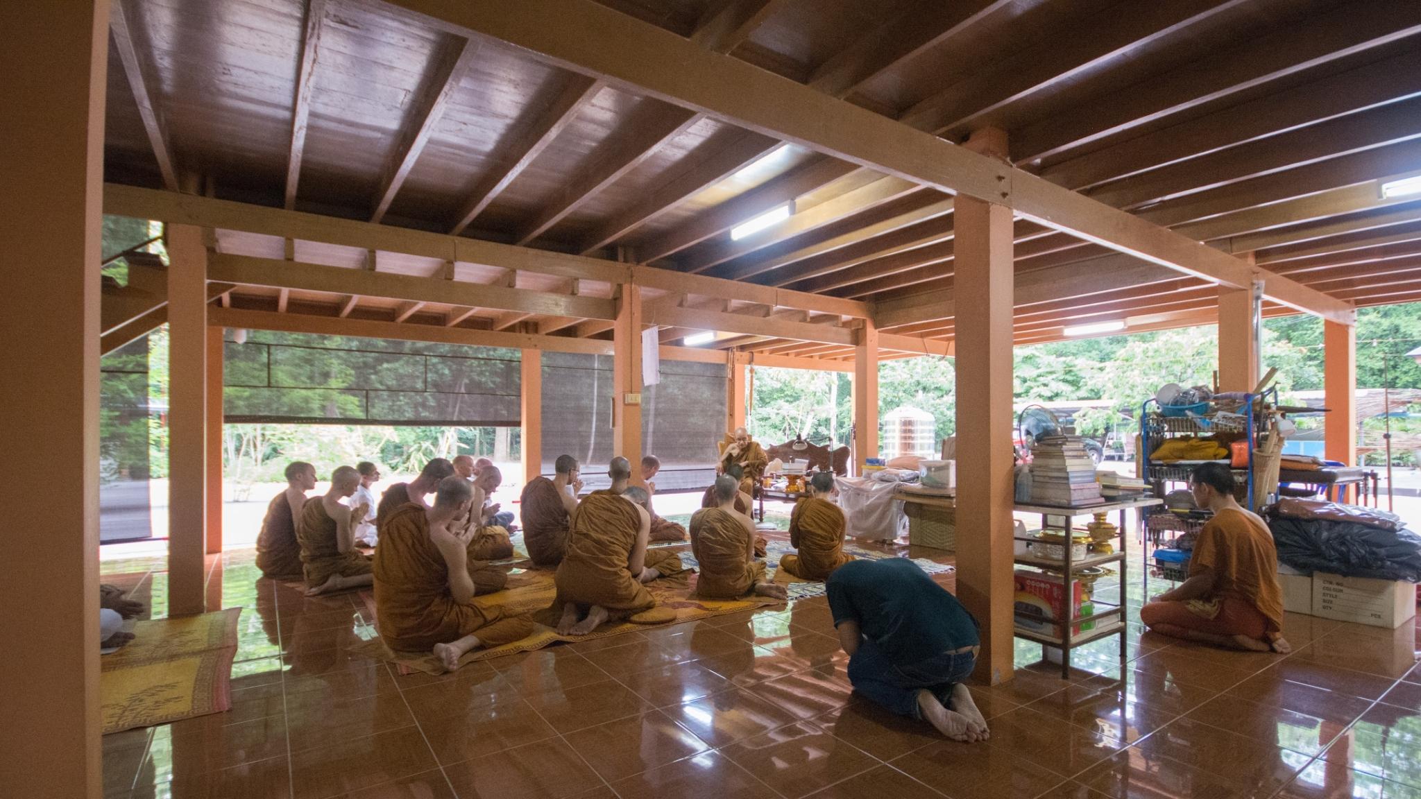 Paying Resects to Lp Awat, Wat Nak Nimit