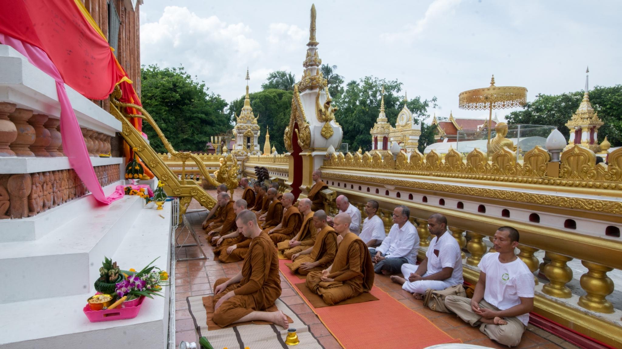 Sitting Meditation at Phra That Phanom