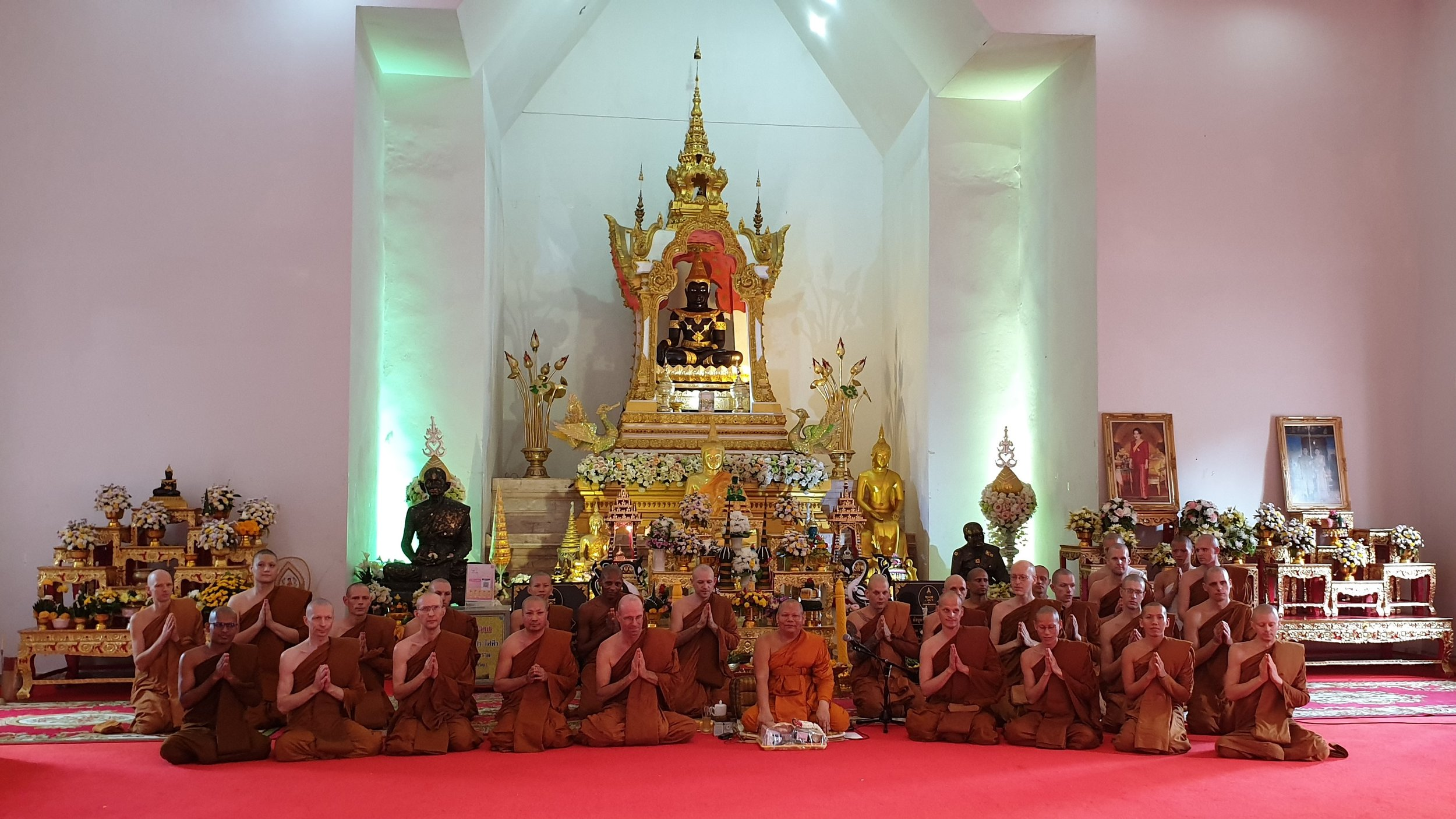 at Wat Manivanaram with Luang Por Phra Thepwarajahn, Jaokana Jangwat Ubon