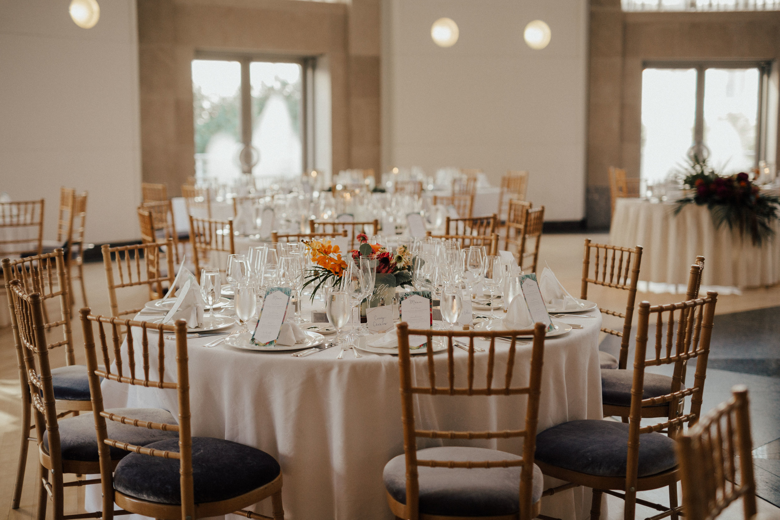 The Ronald Regan Building  - If you want a D.C style wedding, this venue is for you! The reception hall is filled with natural light and the outdoor courtyard makes the perfect backdrop for bridal portraits.