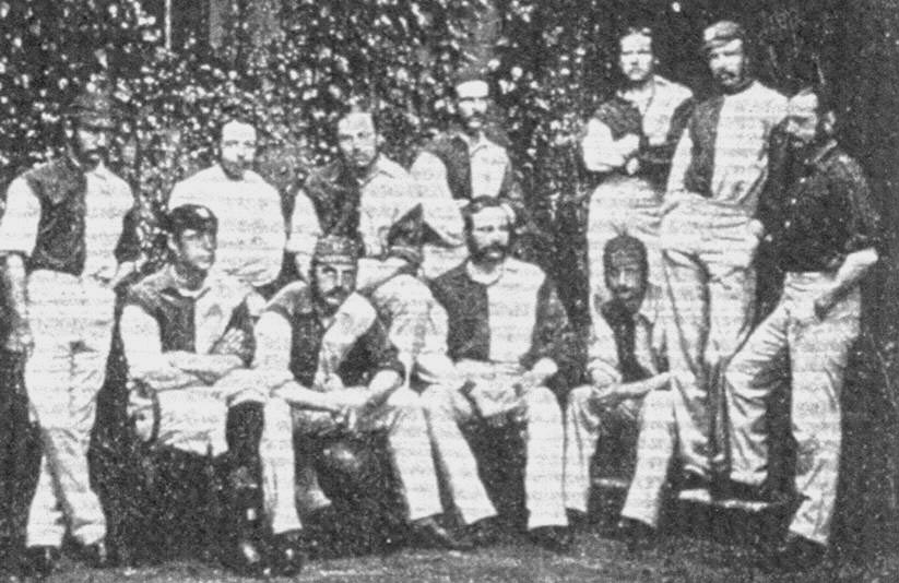 OUAFC's FA Cup-winning team of 1874.
