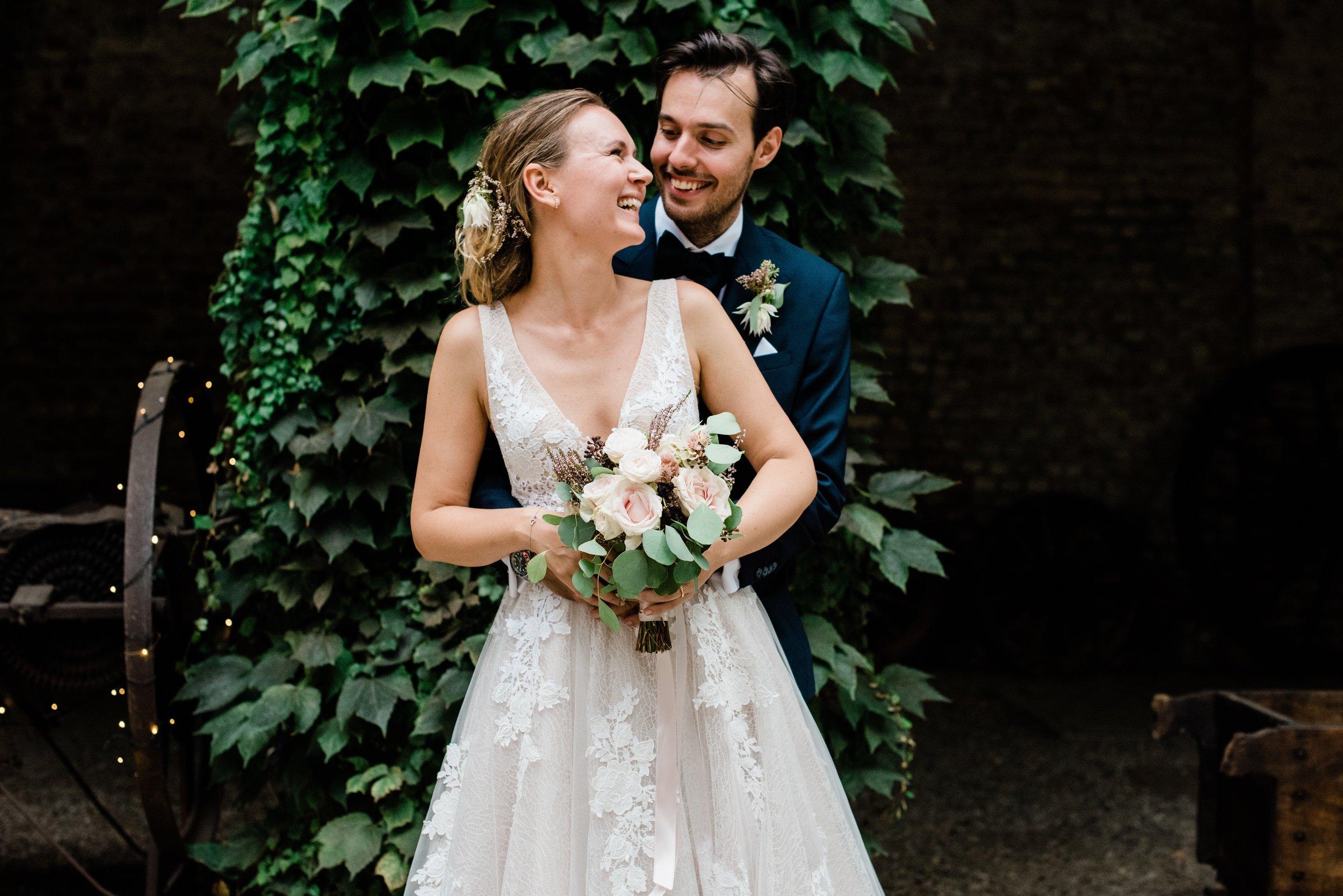 Gli sposi, Camilla e Massimiliano.