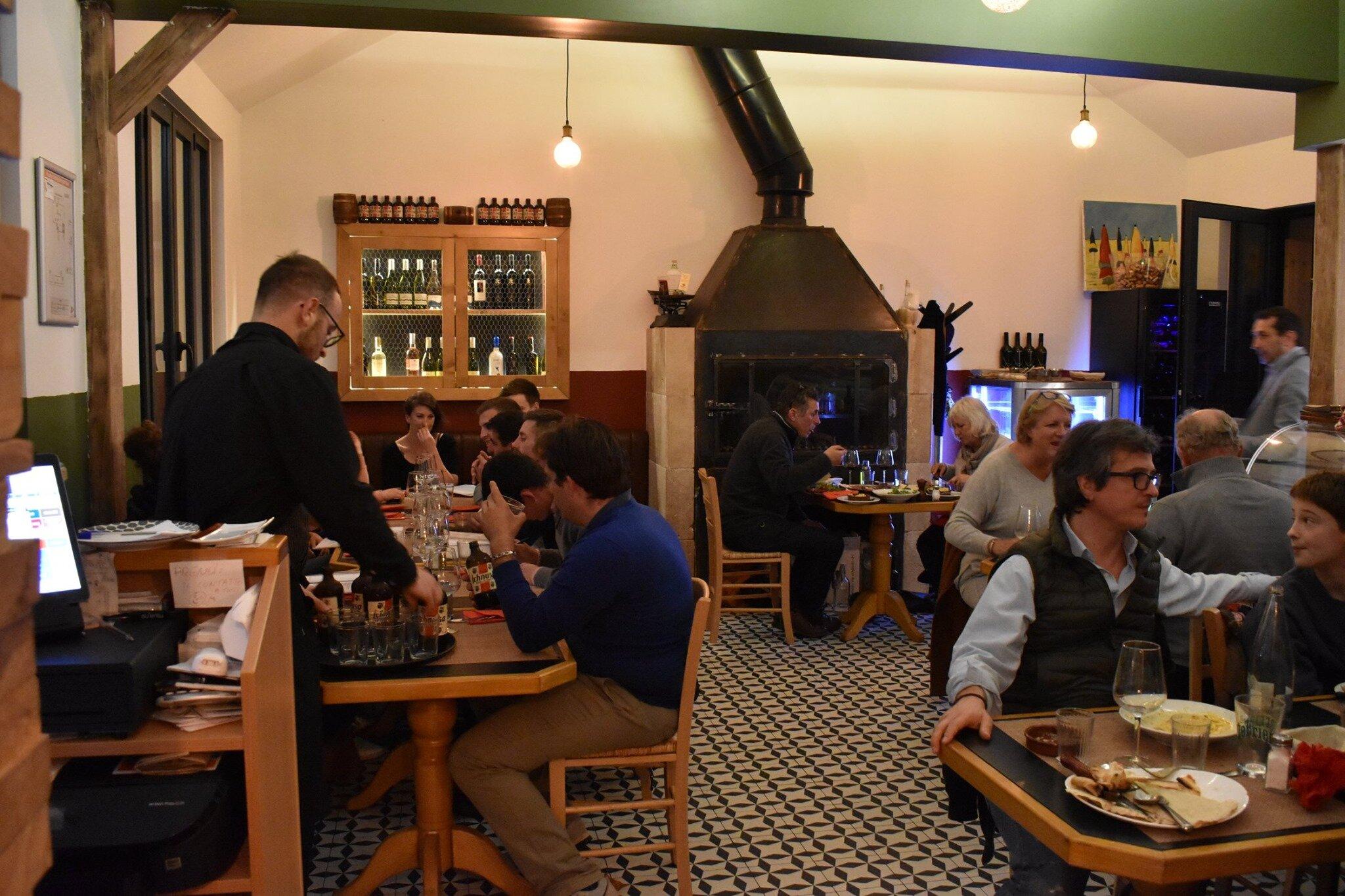 L'interno del ristorante.