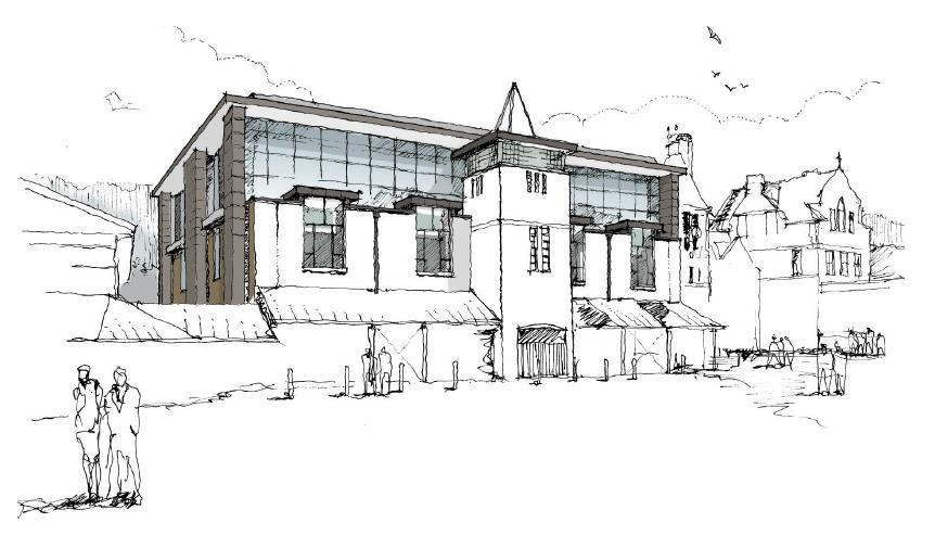 Architect's Impression of Science Building (Lewis & Hickey Ltd.)