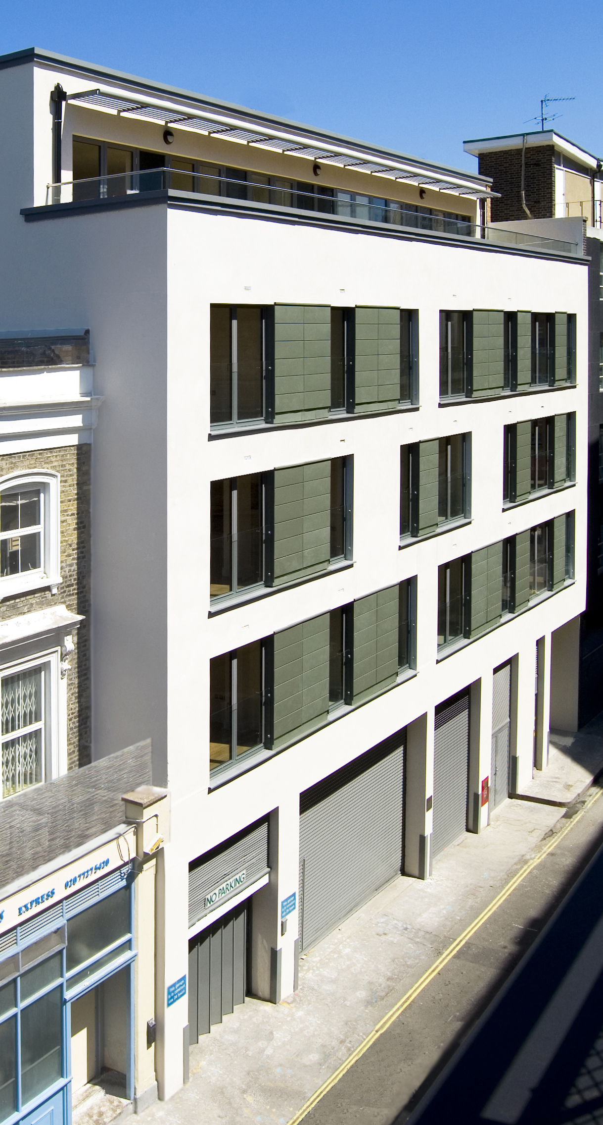 The finished apartment building
