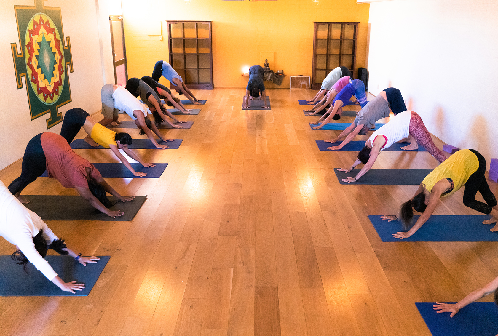 Mysore - You are given an Ashtanga sequence of postures. With individual guidance, help and adjustments by the teacher you progress at your own pace. Ashtanga Yoga Postures are given according to the individual. Focusing on mindfulness breath and nonviolence. The class structure is