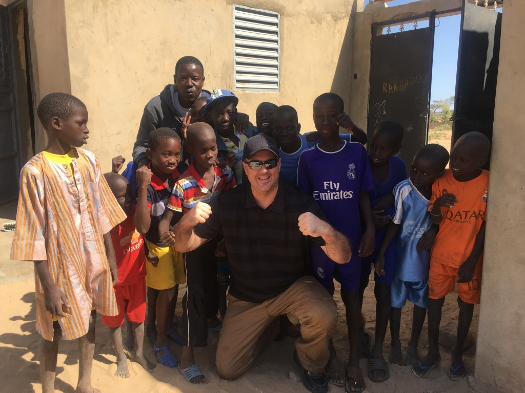 Pastor Brent and some of the kids from the village in Senegal!