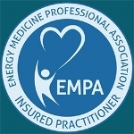 Energy Medicine-Professional Association Badge for Blue Crystal Waterfall Healing - EMPA Insured Practitioner