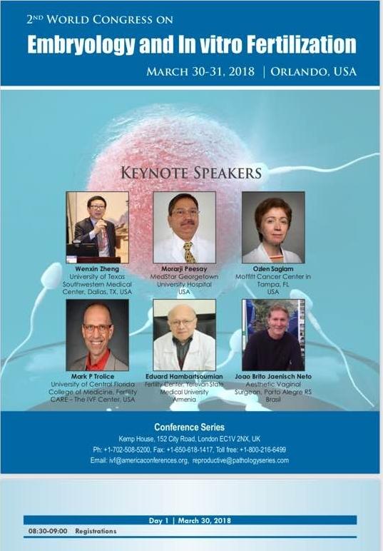 2° Congresso Mundial de Embriologia e Fertilização in-Vitro - Orlando/EUA