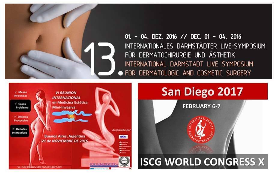 3 eventos internacionais na Argentina, Alemanha e Estados Unidos, como único médico representante brasileiro.