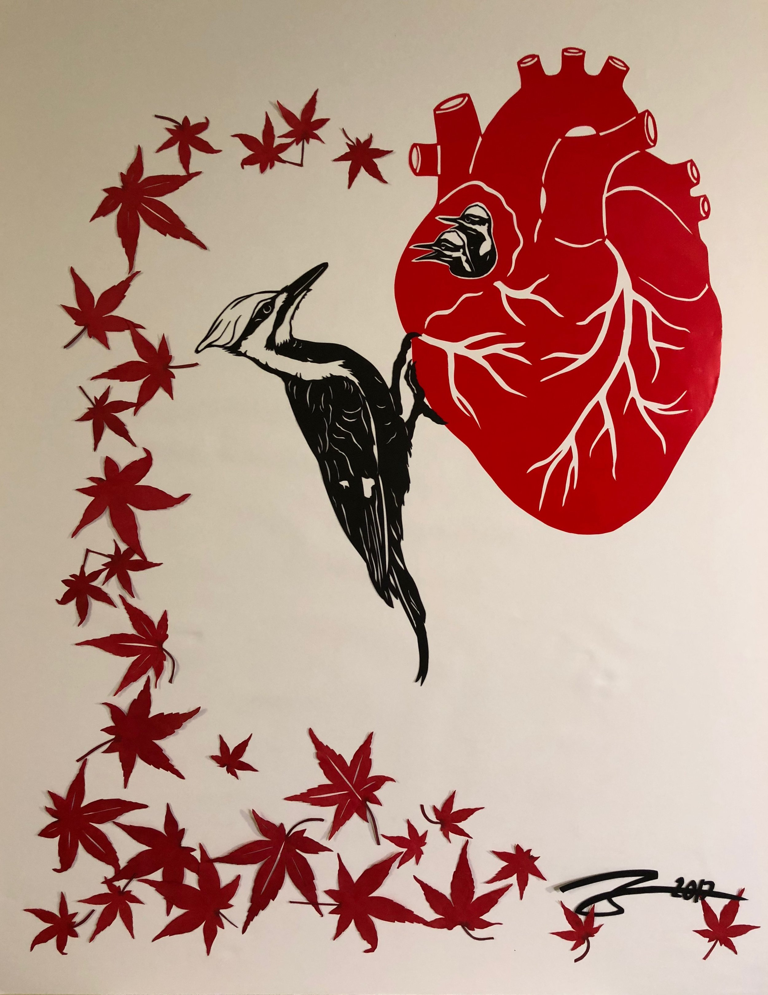 Pileated Heart