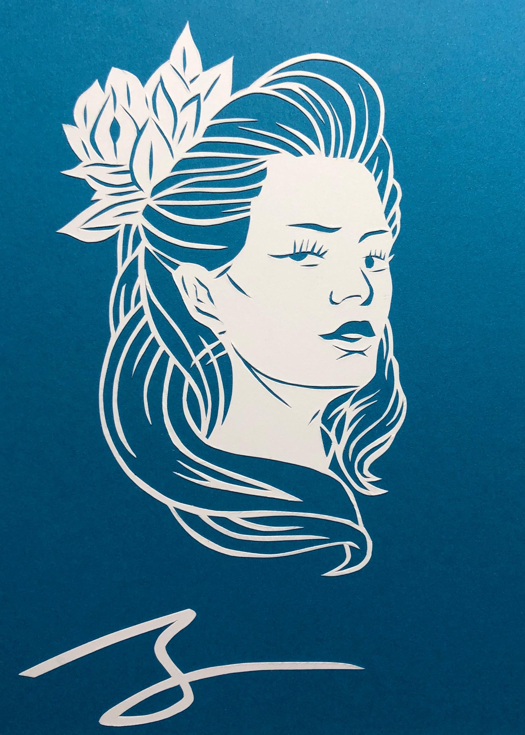 Tattoo Portrait (Flower)