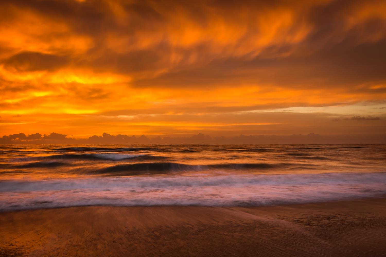Fiery sunrise, Melbourne Beach, FL.