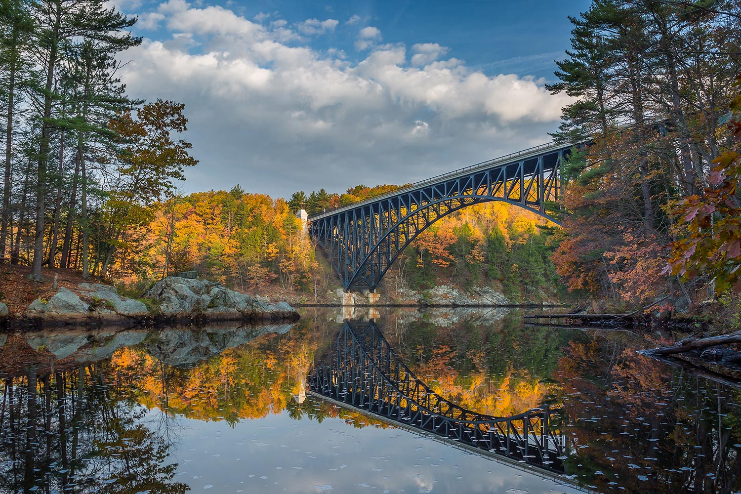 The French King Bridge, Miller's Falls, MA.